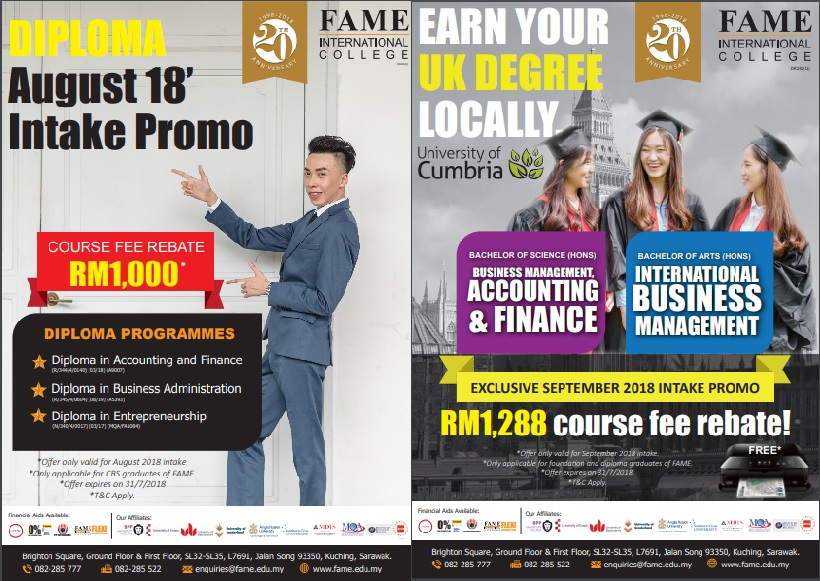 Fame Degree and Diploma Promotion Aug/Sep 2018